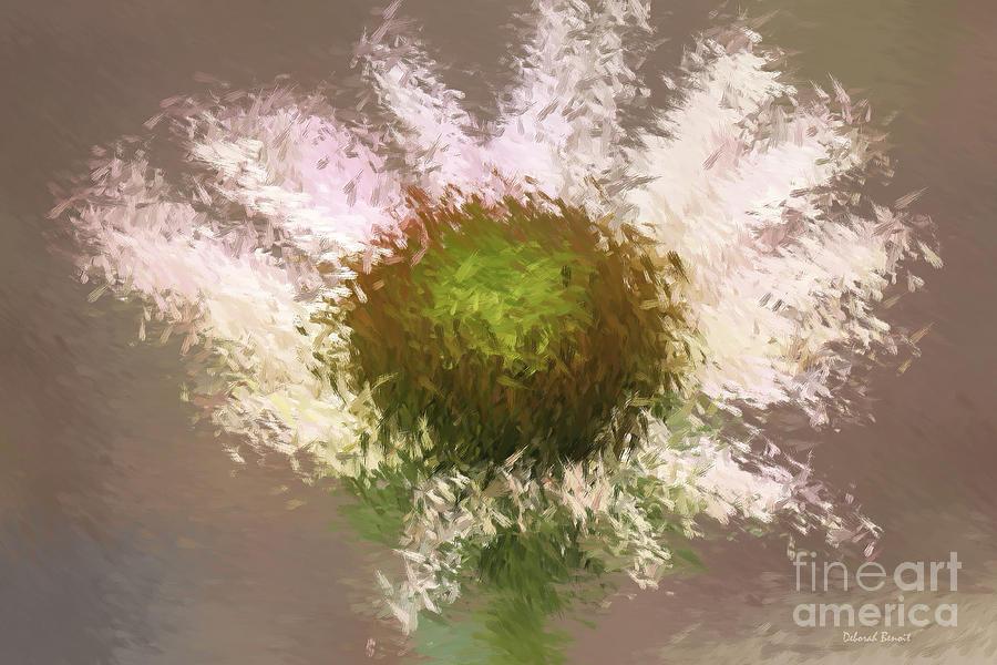 Flower Digital Art - Impressionistic Echinacea by Deborah Benoit