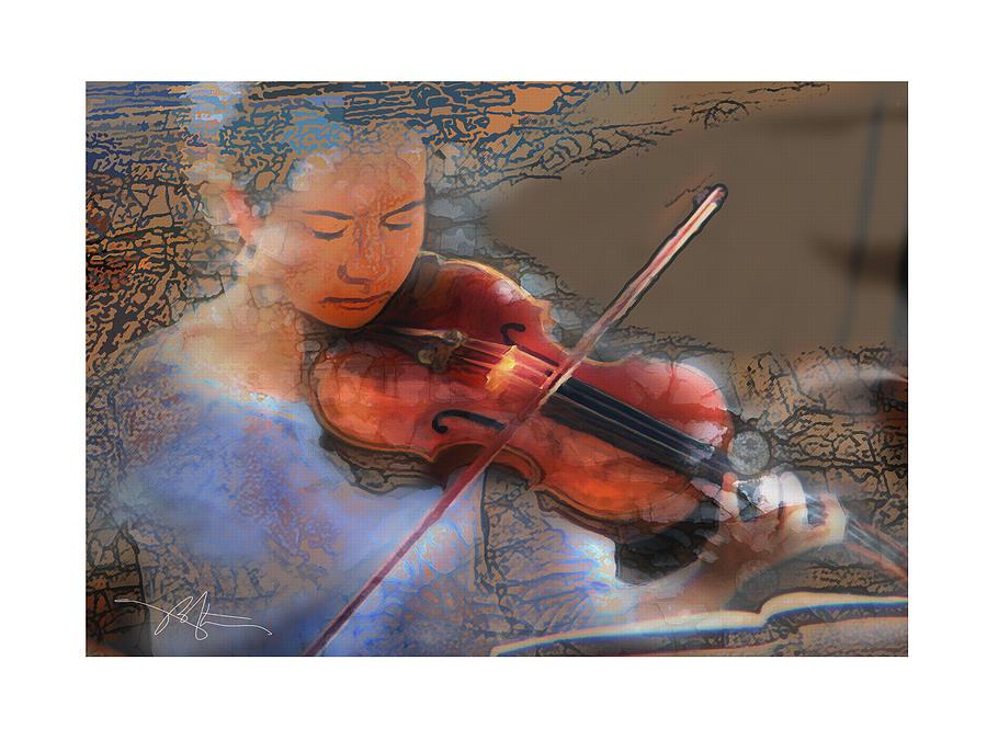 Portrait Digital Art - Improvisation by Bob Salo