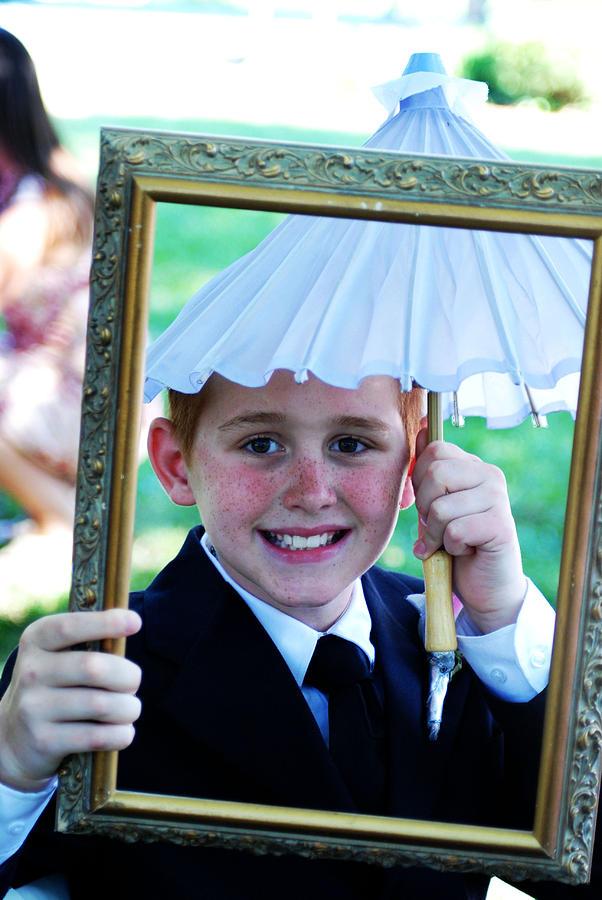 Wedding Photograph - In Case It Rains by Gloria  Shelton