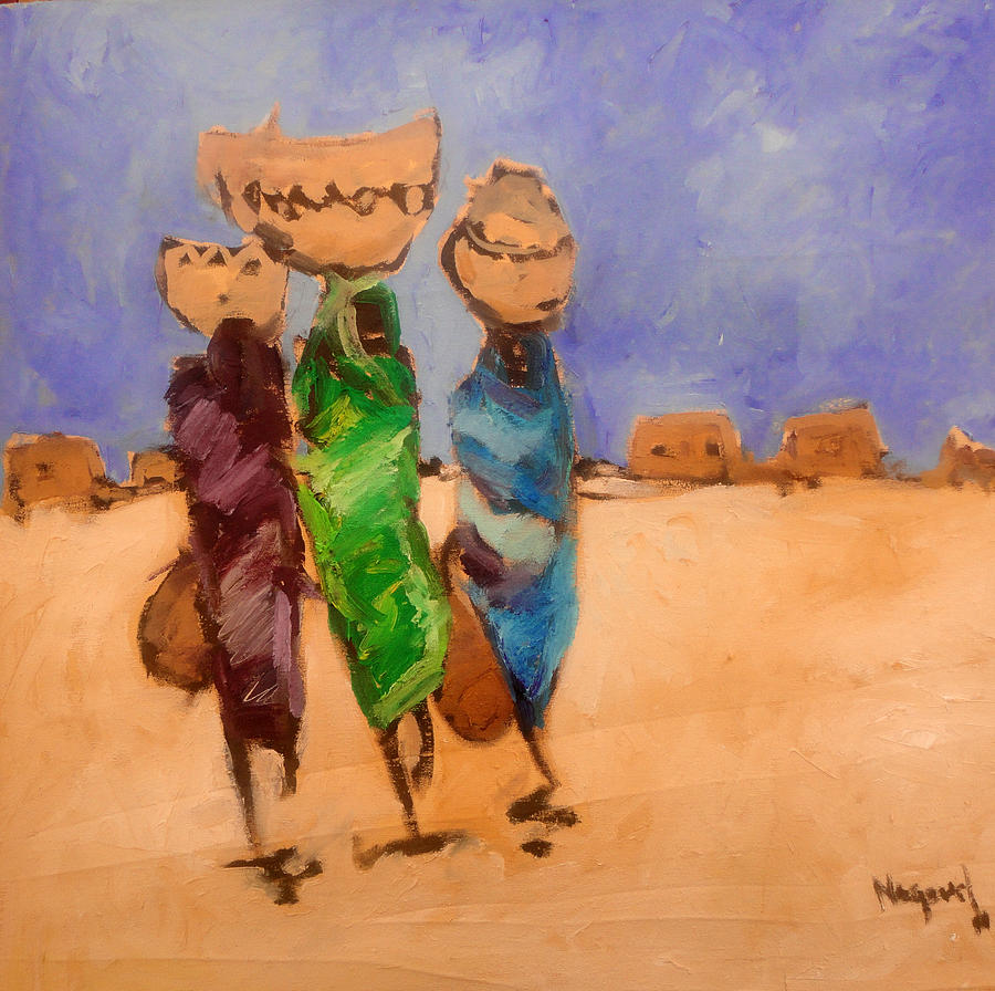Landscape Painting - in Darfur 2 by Negoud Dahab