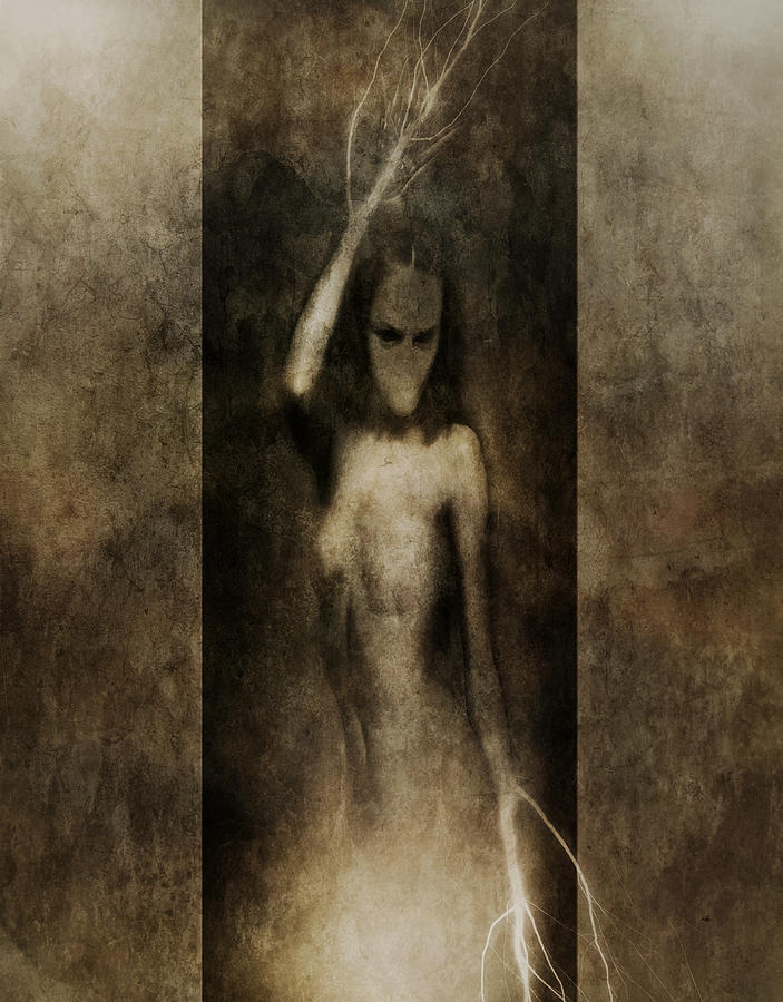 Gothic Mixed Media - In Her Arms We All Drown by Jarno Lahti