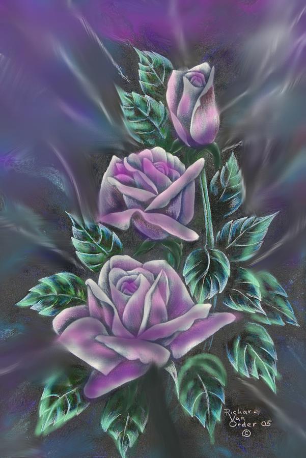 Roses Digital Art - In Love by Richard Van Order and R Parks