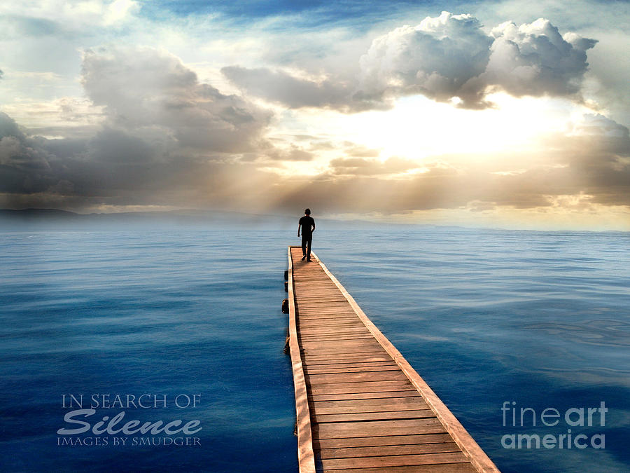 Sea Digital Art - In Search Of Silence  by Eugene James