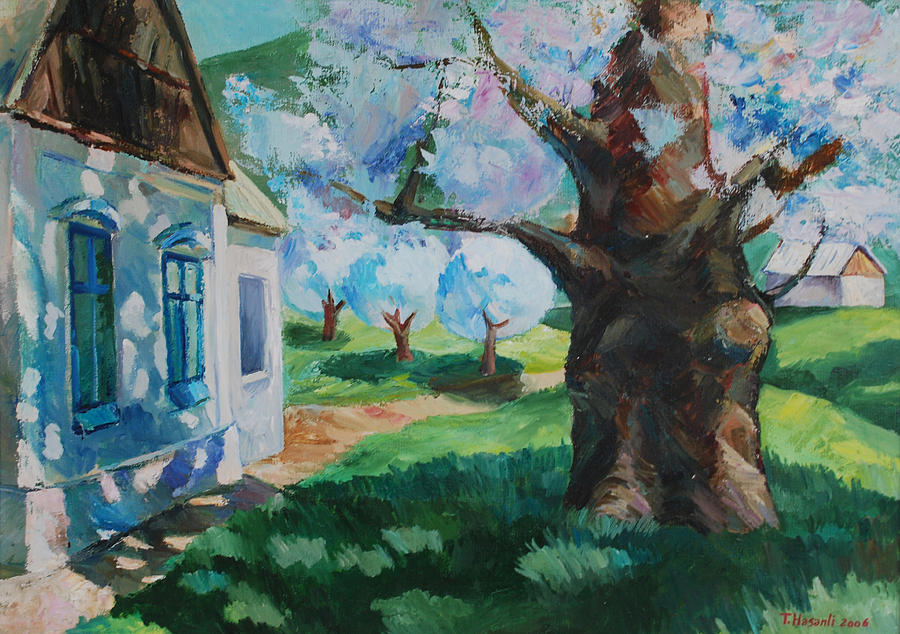 Landscape Painting - In Spring by Tural Hasanli