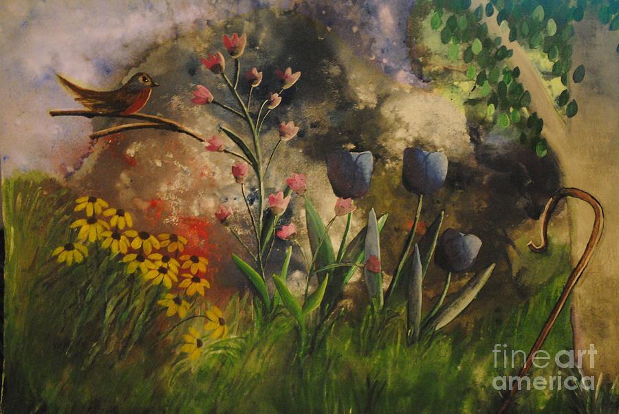 Floral Painting - In The Beginning by Barbara McNeil