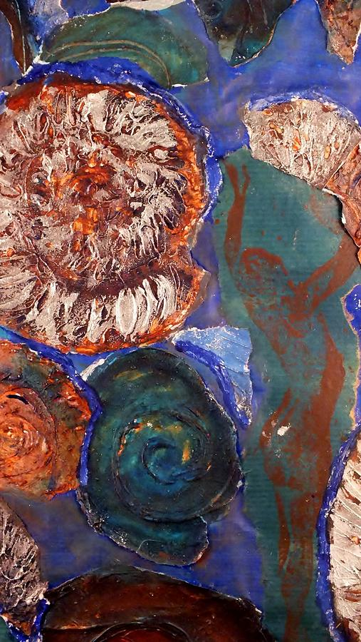 Fossils Mixed Media - In The Beginning  by Emma Manners
