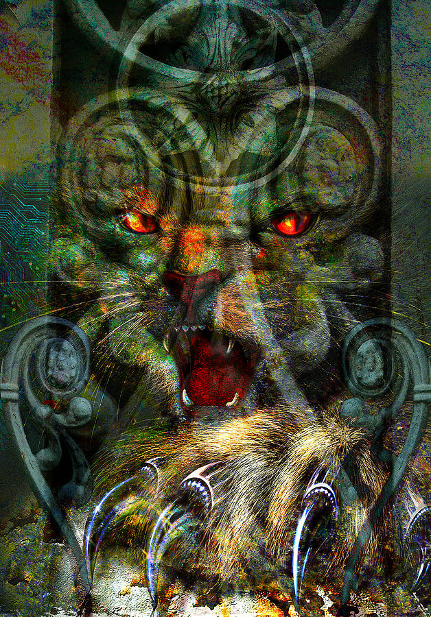 Cats Digital Art - In The Dark. by Nato  Gomes