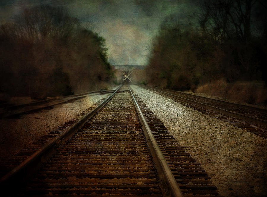 Train Photograph - In The Distance by Kathy Jennings