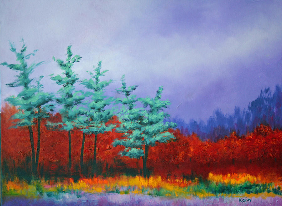 Landscape Painting - In The Dunes 2 by Karin Eisermann