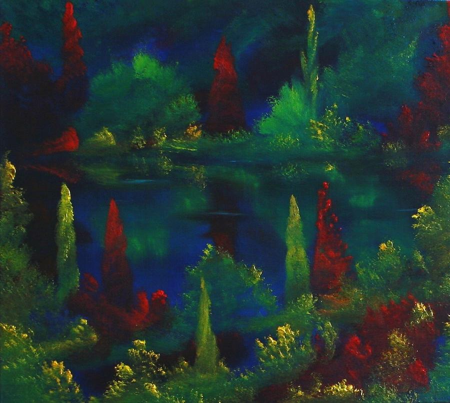 Landscape Painting - In The Garden Of Kubla Khan by David Snider