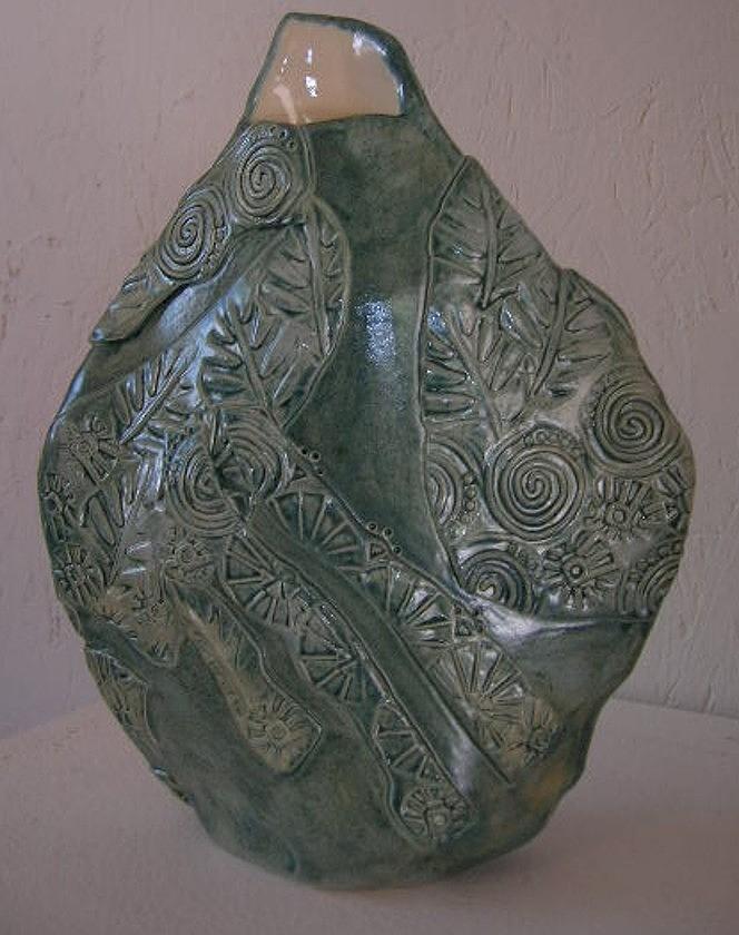Vase Ceramic Art - In The Garden by Vicky DeLong