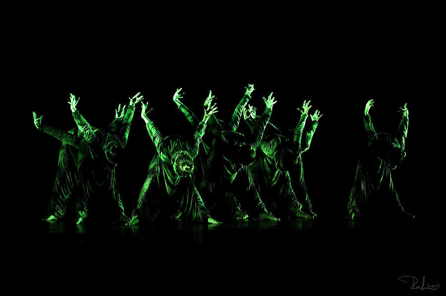 Dance Photograph - In The Green Light by Raffaella Lunelli