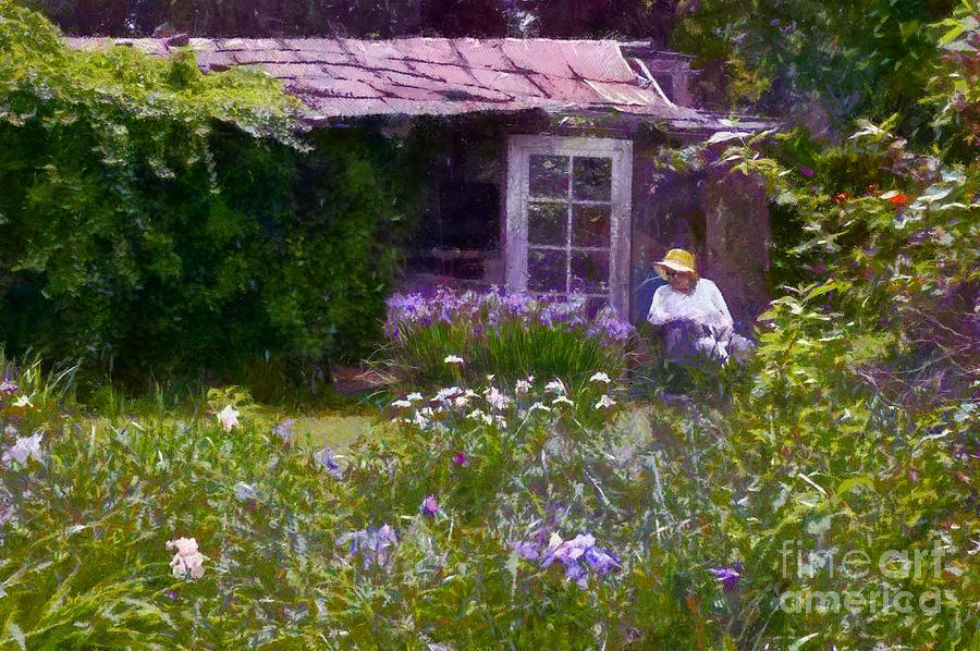 Iris Photograph - In The Iris Garden by Susan Isakson
