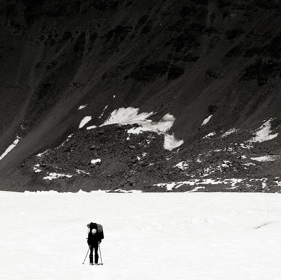 Alone Photograph - In The Mountains by Konstantin Dikovsky