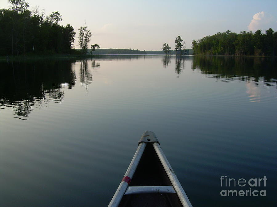 Canoe Painting - In The Old Canoe by Alex Blaha