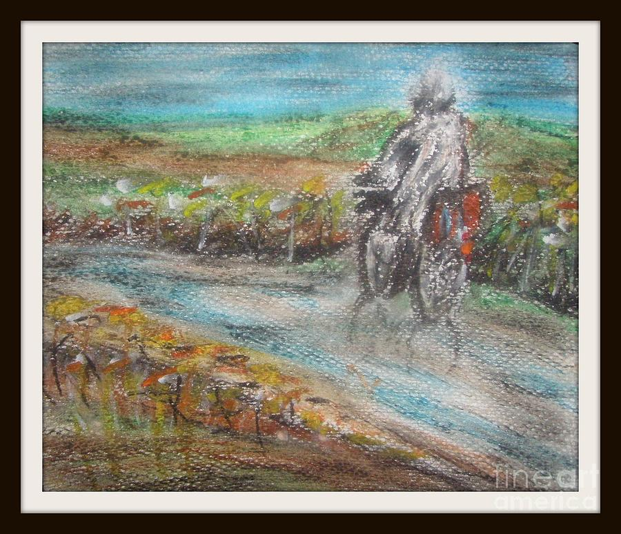 In The Rain Painting by Foqia Zafar