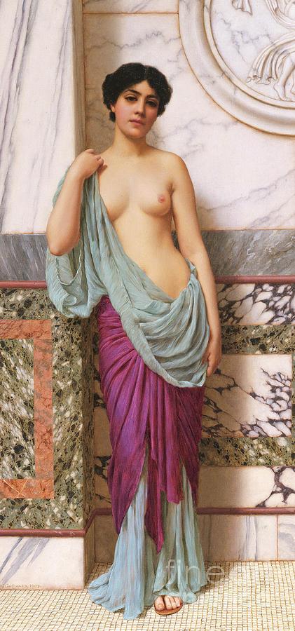 Nude Painting - In The Tepidarium by John William Godward