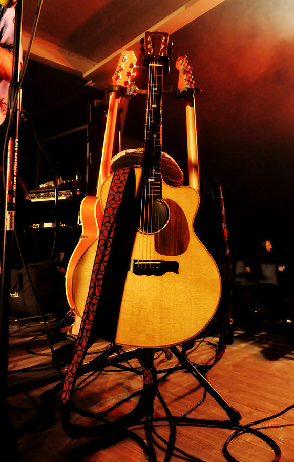 Guitar Photograph - In The Wings by Mary Frances