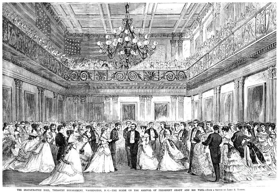 1869 Photograph - Inaugural Ball, 1869 by Granger