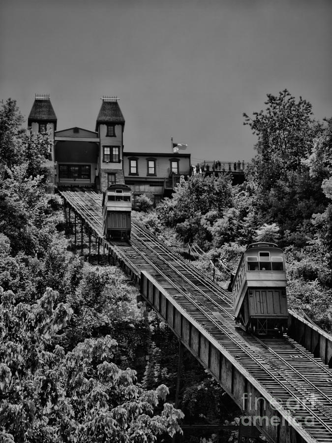 Incline Photograph - Incline Bw by Arthur Herold Jr