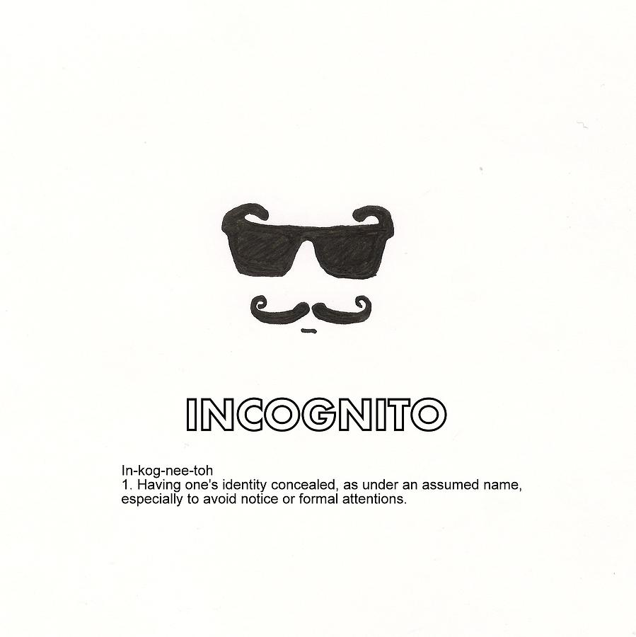 incognito drawing by candace fowler