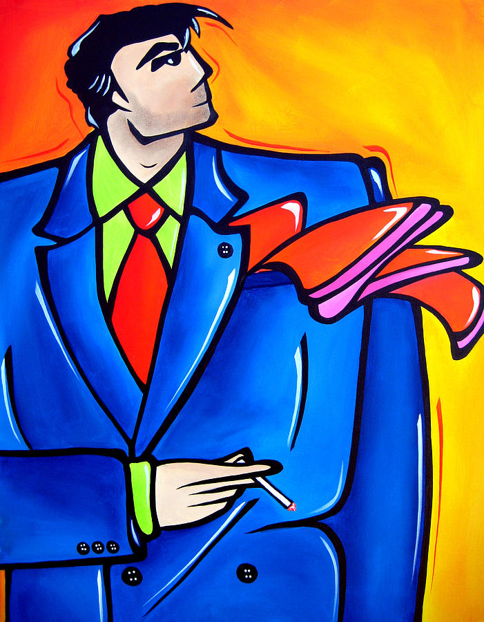 Abstract Art Paintings Painting - Incognito Original Pop Art by Tom Fedro - Fidostudio