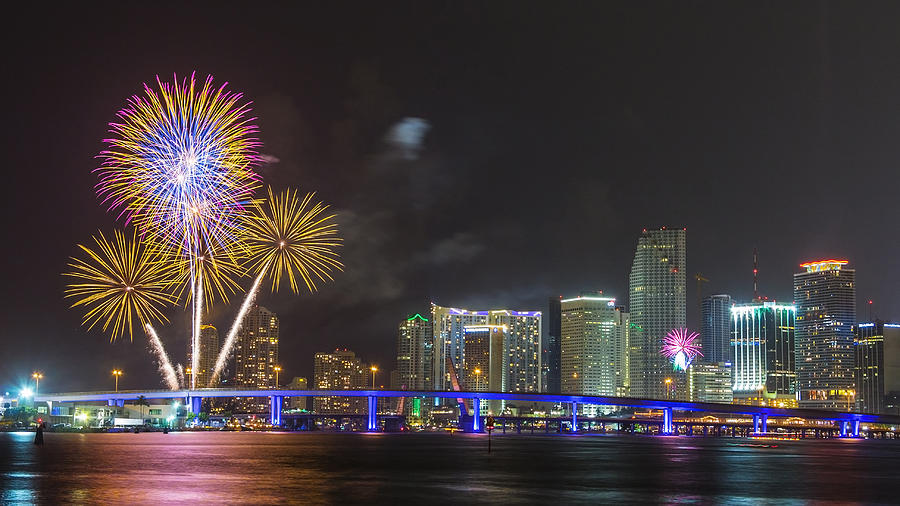 4th Of July Photograph - Independece Day Fireworks by Claudia Domenig