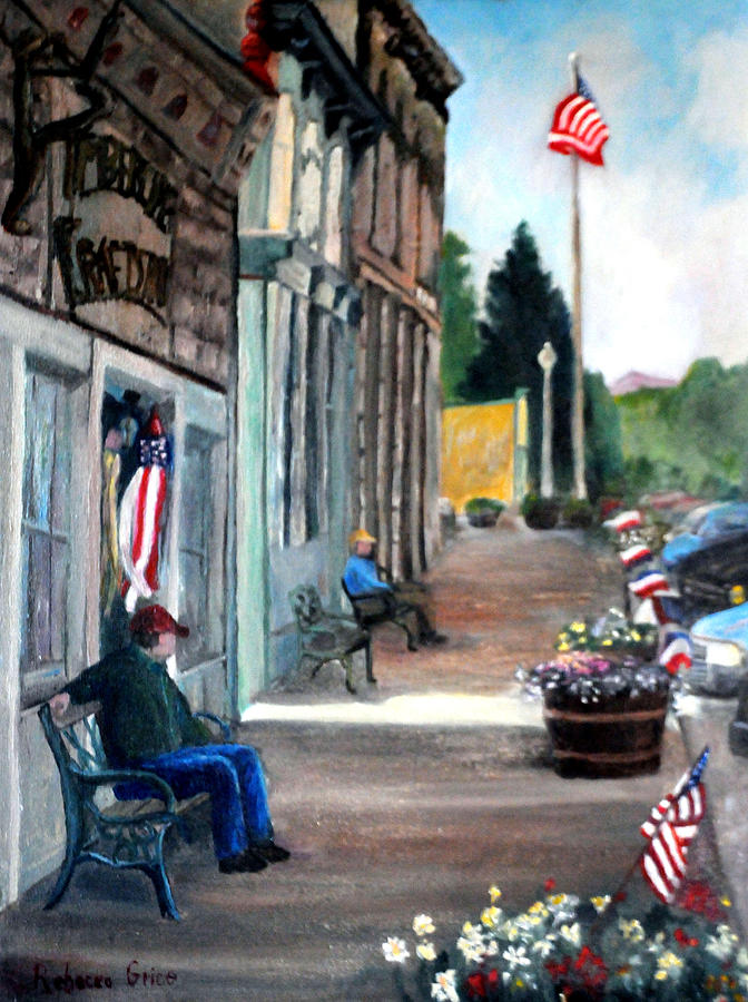 Independence Day Painting by Rebecca Grice