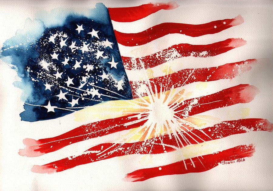 Independence Day Painting - Independence Day by Sharon Mick