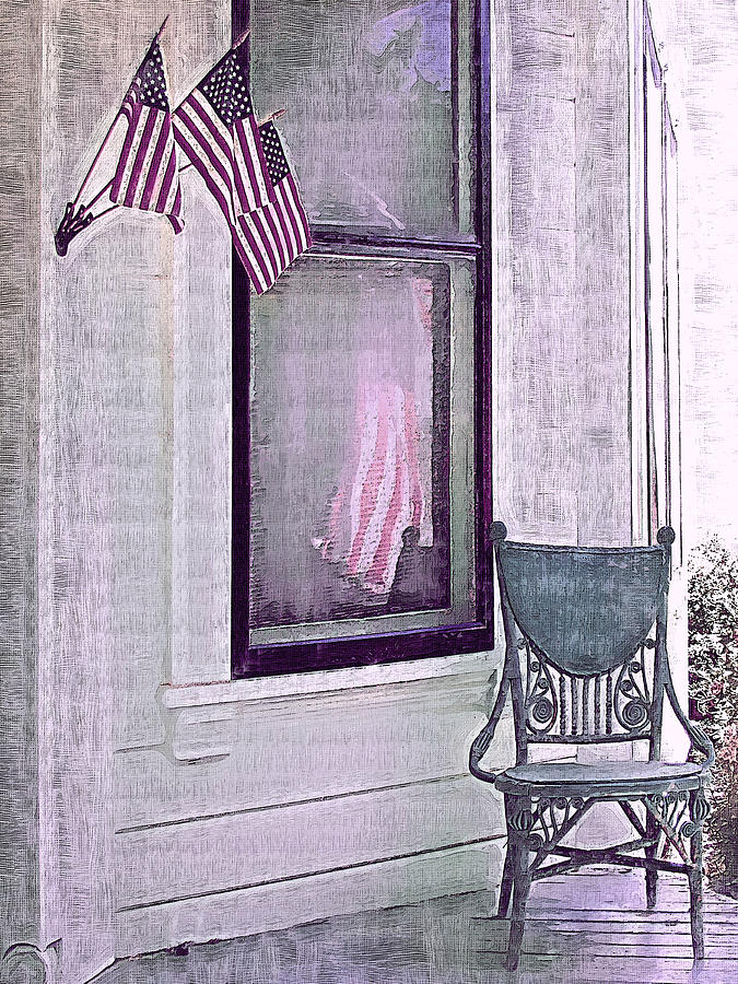 Vintage Photograph - Independence Day by Susan Lee Giles