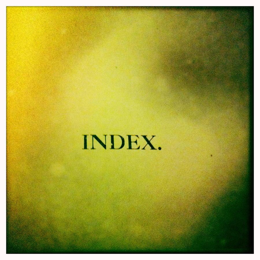 Book Photograph - Index by Betse Ellis