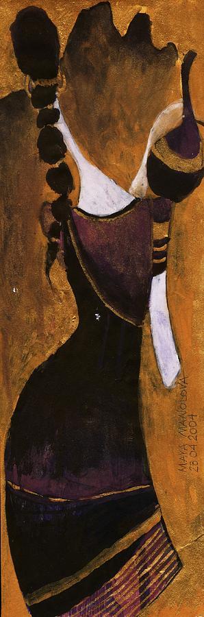 Woman Painting - India 7 by Maya Manolova