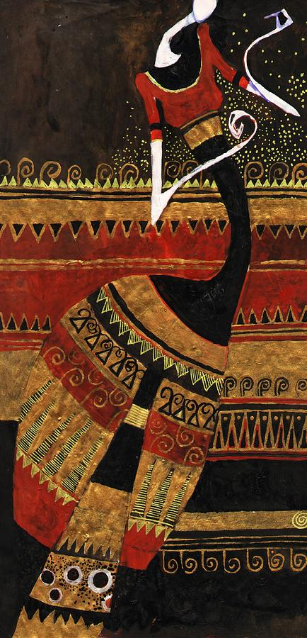Vertical Painting - India 9 by Maya Manolova