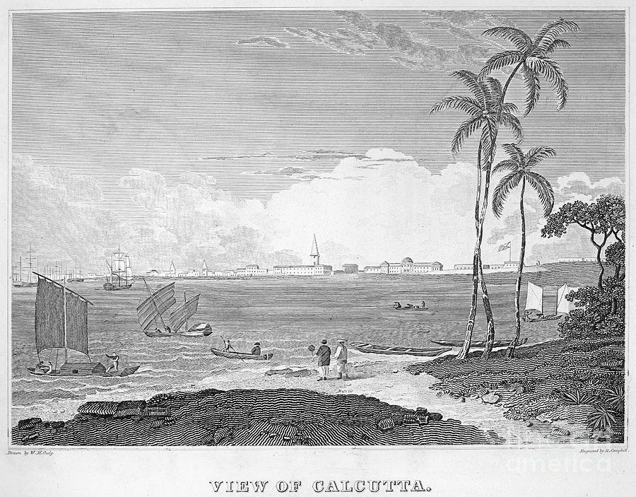 1830 Photograph - India: Calcutta, C1830 by Granger