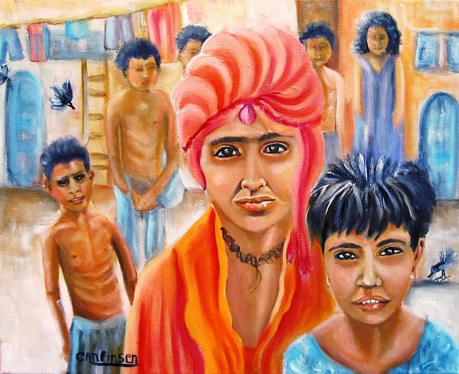 Children Painting - India Rising -- Prince Of Thieves by Carol Allen Anfinsen