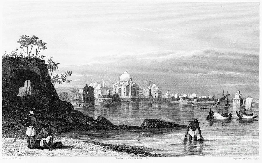 1860 Photograph - India: Taj Mahal, C1860 by Granger