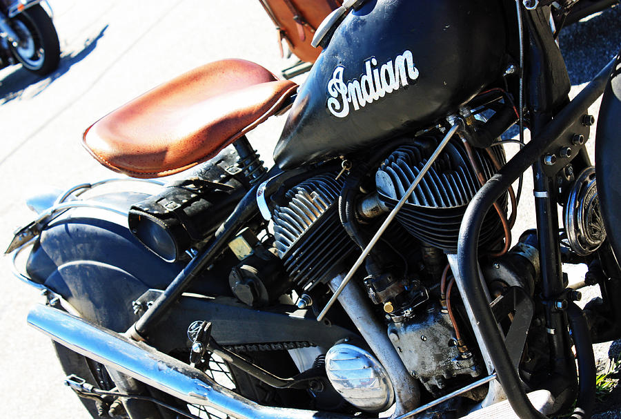 Motorcycle Photograph - Indian by Becca Brann