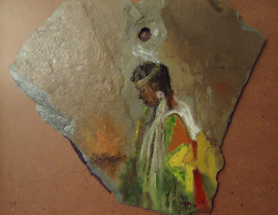 Young Girl Painting - Indian Girl  by Betty Pimm