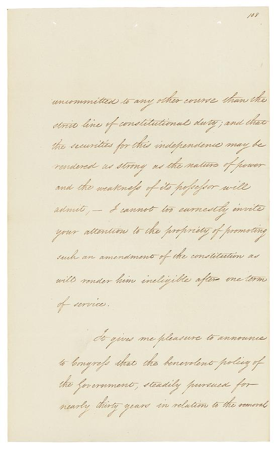 19th Century Photograph - Indian Removal Act. Signed Into Law by Everett