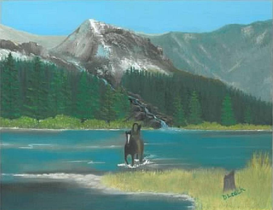 Mountains Painting - Indian River by Donna Leach