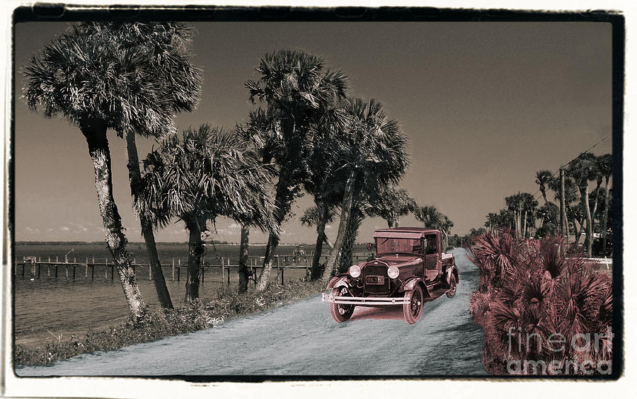 Vintage Photograph - Indian River Drive by Richard Nickson