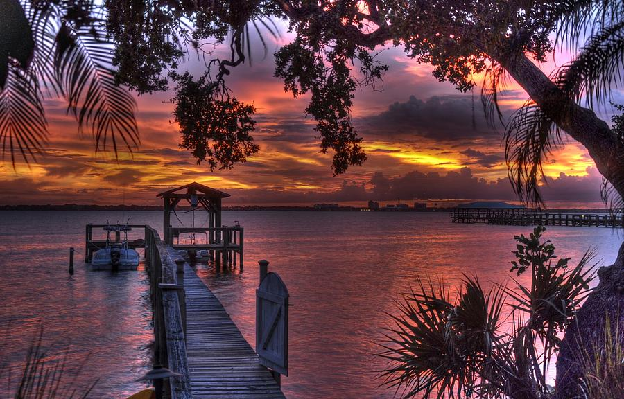 Sunset Photograph - Indian River Sunset by Lisa Goddard