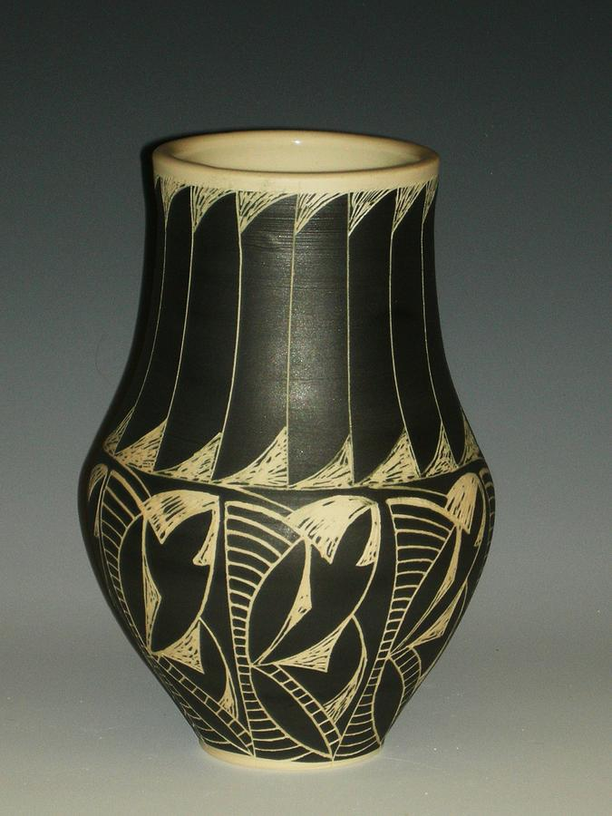 Porcelain Ceramic Art - Indian Vase by Ken McCollum
