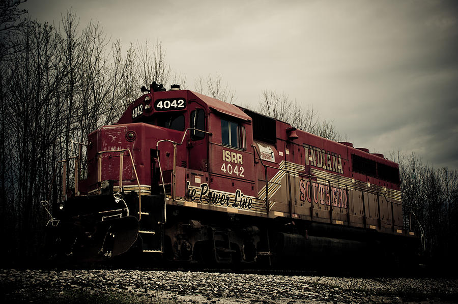 Train Photograph - Indiana Southern by Off The Beaten Path Photography - Andrew Alexander