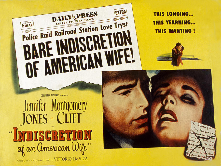 1950s Poster Art Photograph - Indiscretion Of An American Wife, Aka by Everett