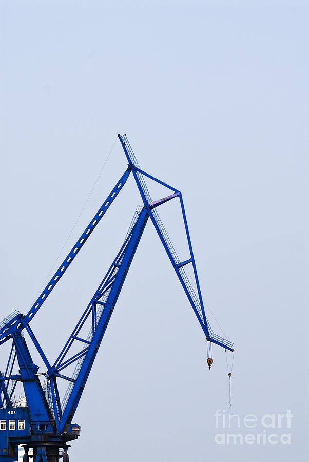 Asia Photograph - Industrial Crane by Sam Bloomberg-rissman