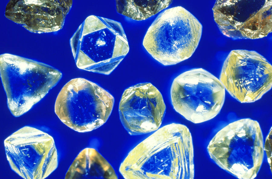Diamond Photograph - Industrial Diamonds by Sinclair Stammers