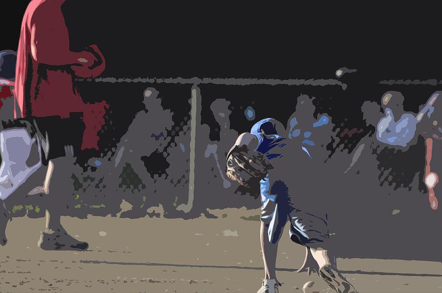 Baseball Photograph - Infield by Peter  McIntosh