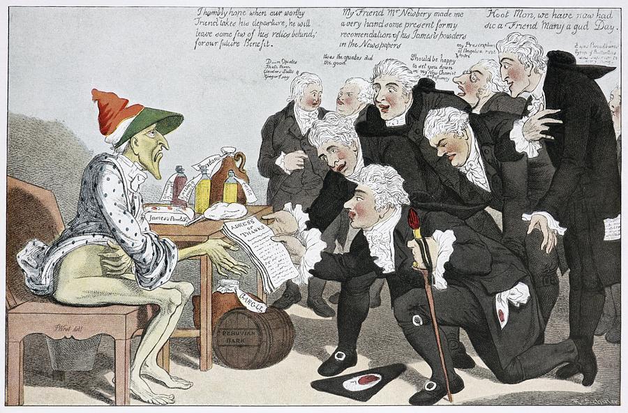 Influenza Photograph - Influenza Epidemic, Satirical Artwork by