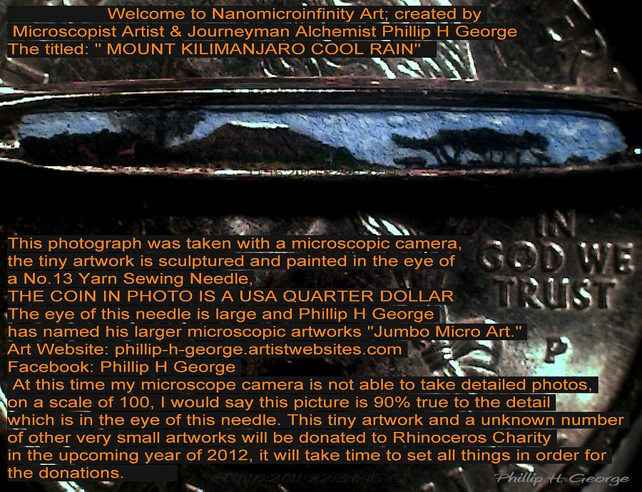 Mount Kilimanjaro Painting - Information Microphotograph  by Phillip H George